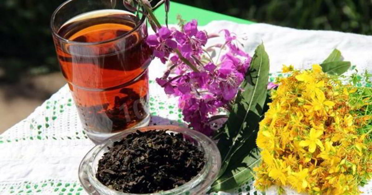 Чай из кипрея со зверобоем